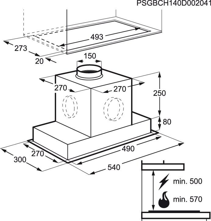 Electrolux - Exaustor de integrar - EFG60563OX