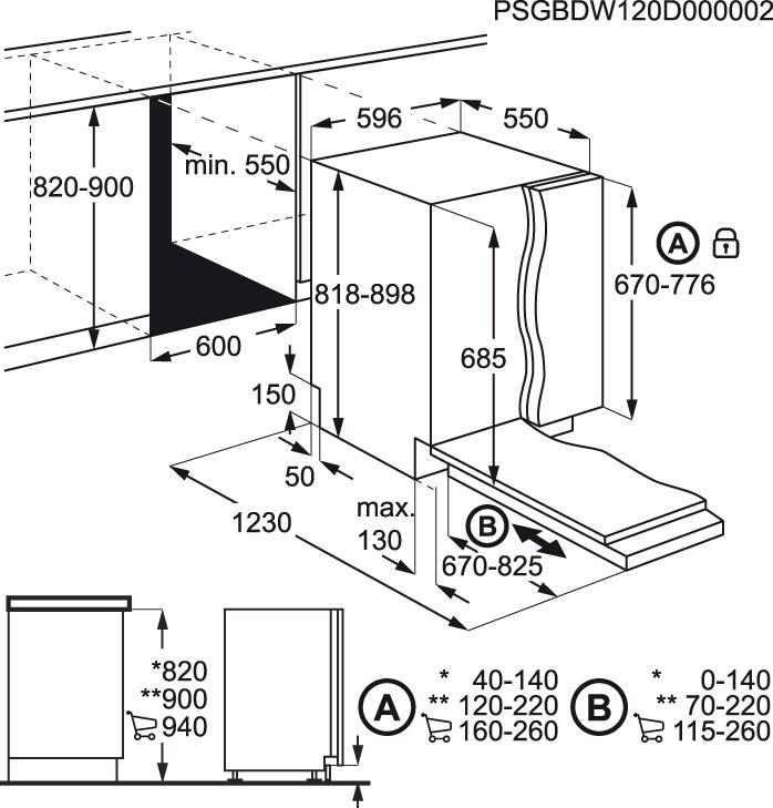 Electrolux - Máquina de lavar loiça de integrar - ESL8330RO