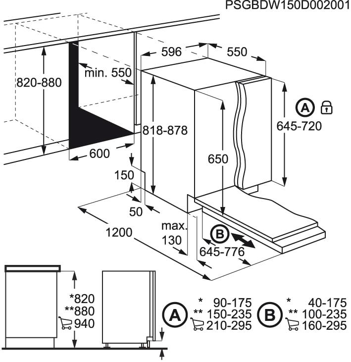 AEG - Máquina de lavar loiça de integrar - FSE53600Z