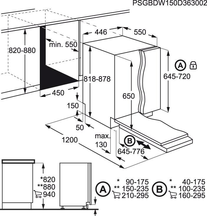 Electrolux - Máquina de lavar loiça de integrar 45cm - ESL4555LO