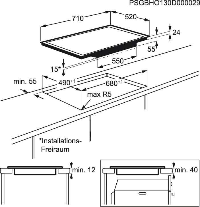 Electrolux - Placa de indução - EHL7640FOK