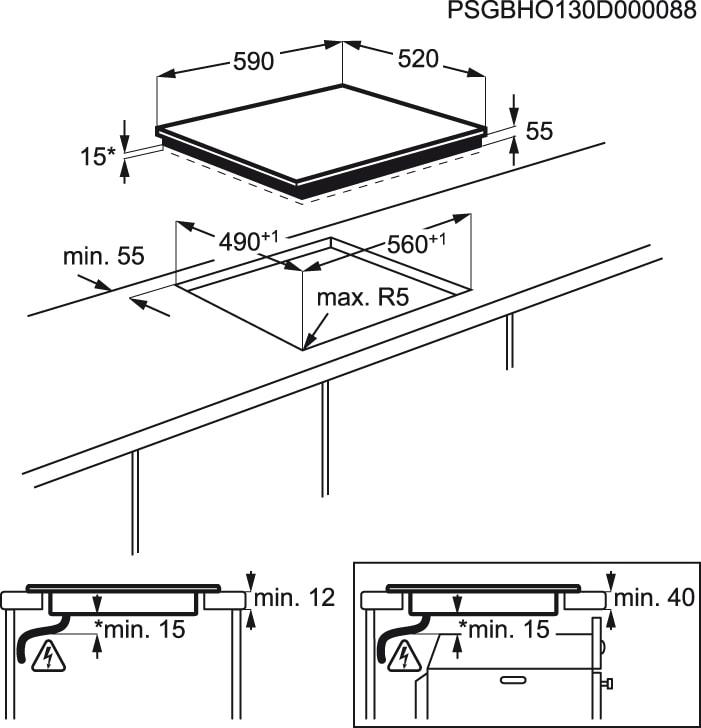Electrolux - Placa de indução - EHN6532IW1