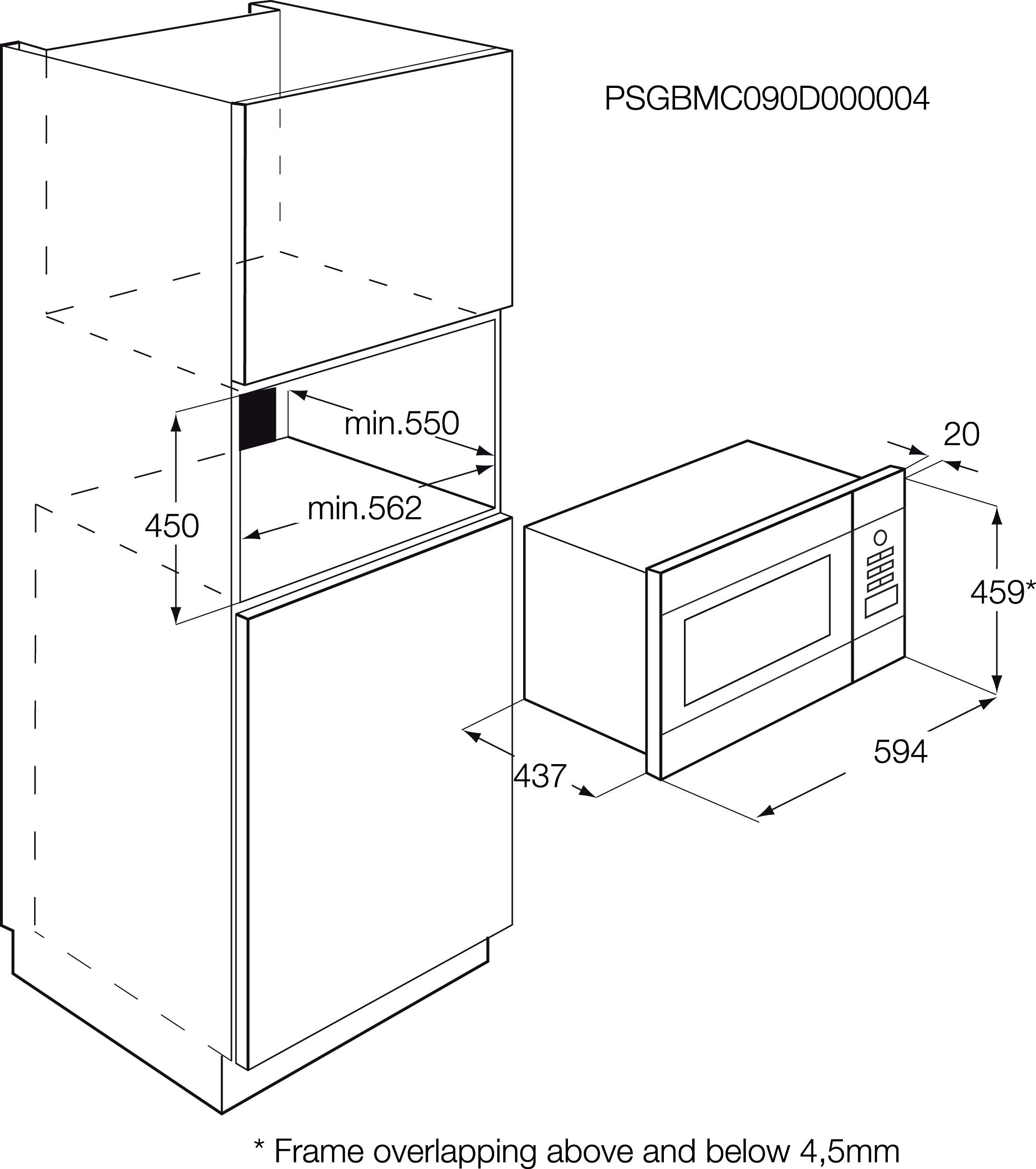 AEG - Micro-ondas de integrar - MCD2664E-M
