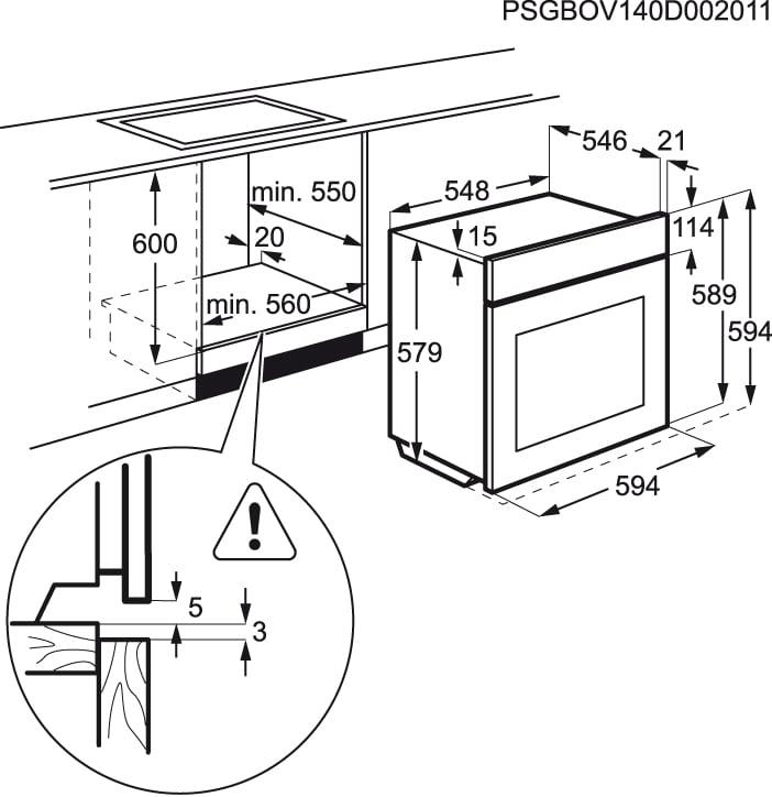 Electrolux - Horno - EOC5751FOX