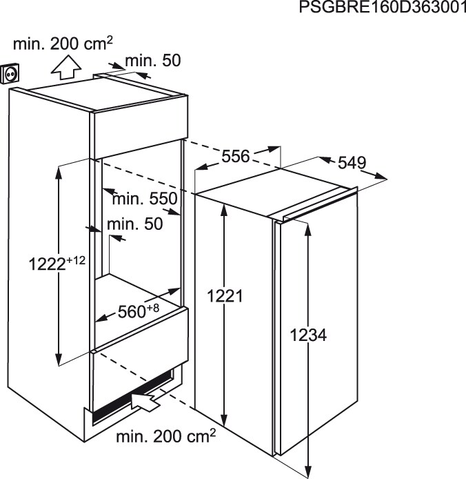 AEG - Frigorífico de integrar - SKZ81200F0