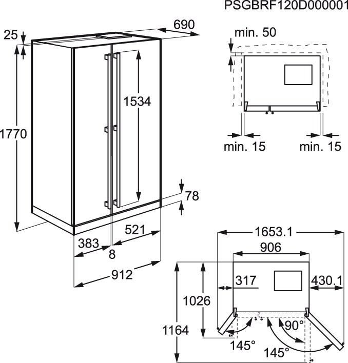 Electrolux - Combinado Side by side - EAL6142BOX
