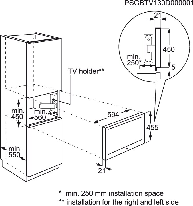 Electrolux - TV de integrar - ETV4500AX