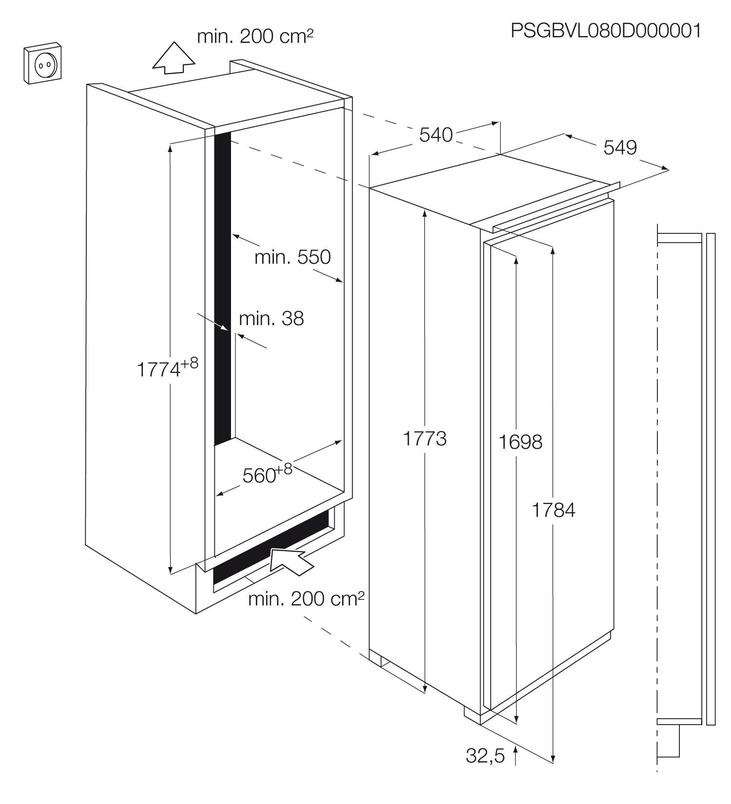Electrolux - Congelador vertical de integración - EUG2244AOW