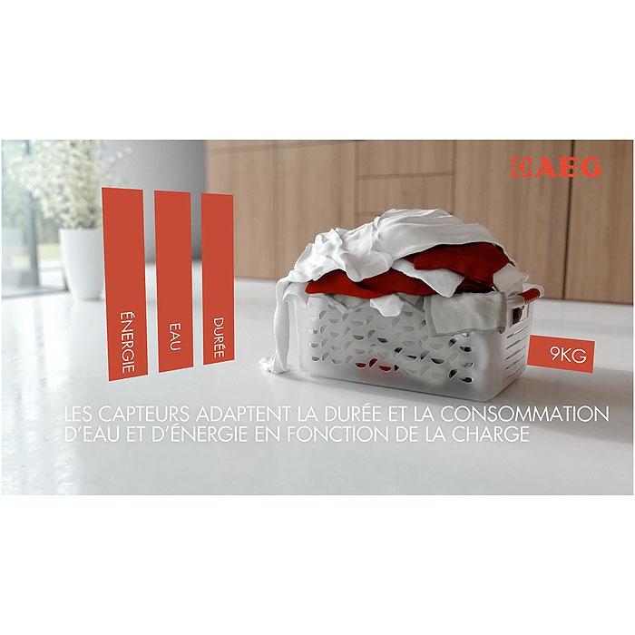 AEG - Lave-linge chargement frontal - L79495OKO