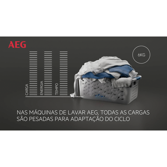 AEG - Máquina de lavar carga frontal - L6FBG844