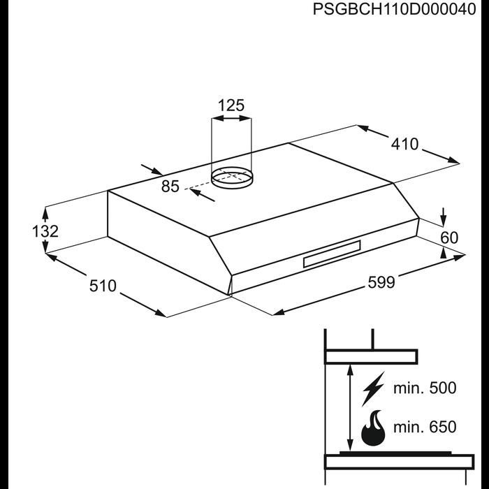 Electrolux - Hotă tradiţională - EFT60233OS