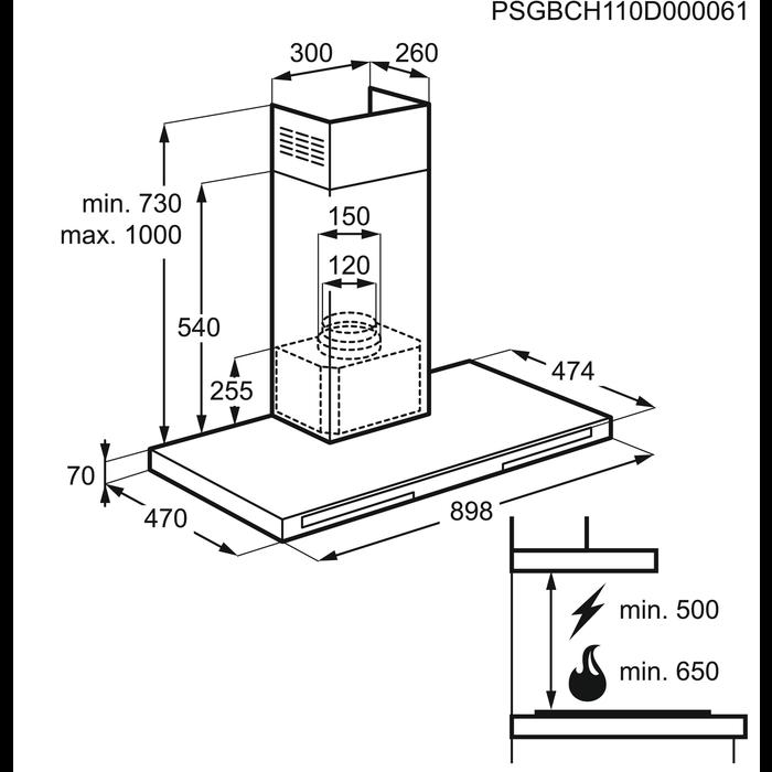 Electrolux - Chimney hood - EFB90570DX