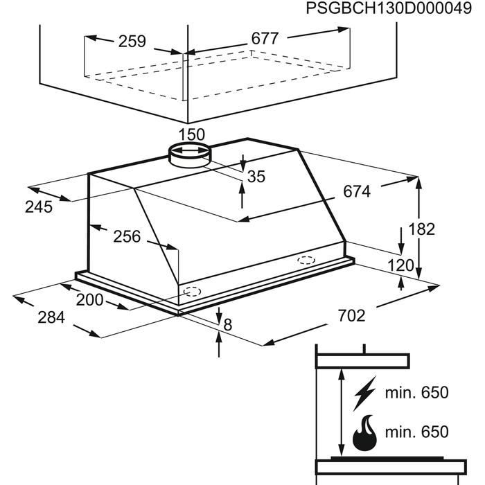 Electrolux - Cappa integrata totale - GI7040X