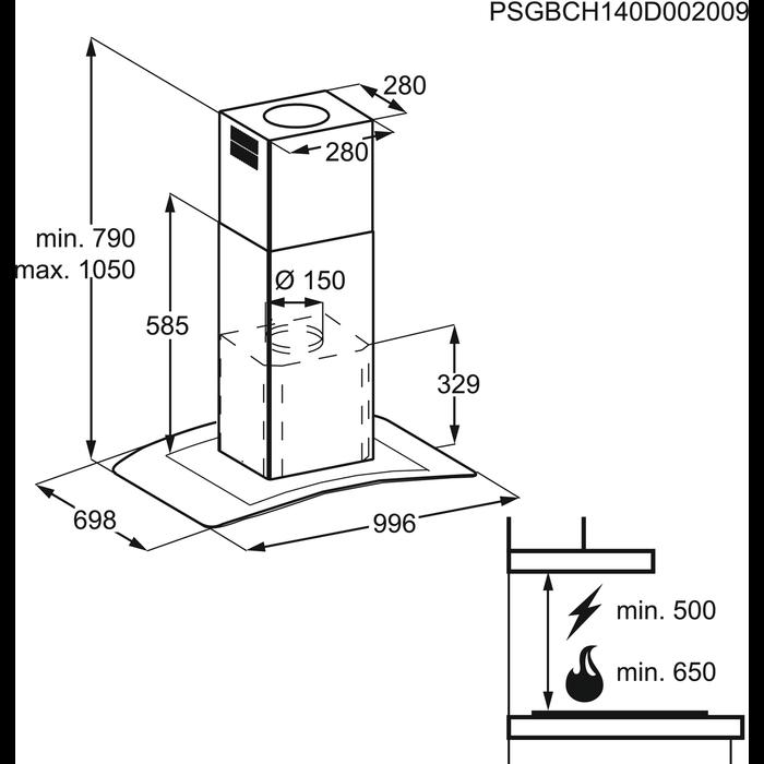 Electrolux - Frithængende emfang - EFL10965OX