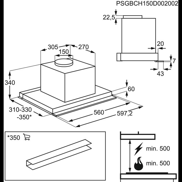 Electrolux - Cappa integrata totale - CA6400I-X