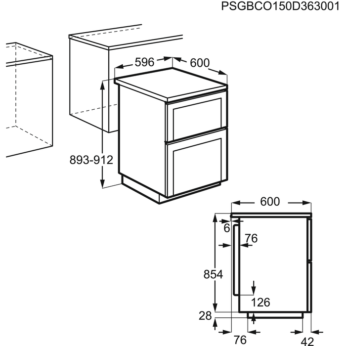 Electrolux - Komfur - EKC6061AOW