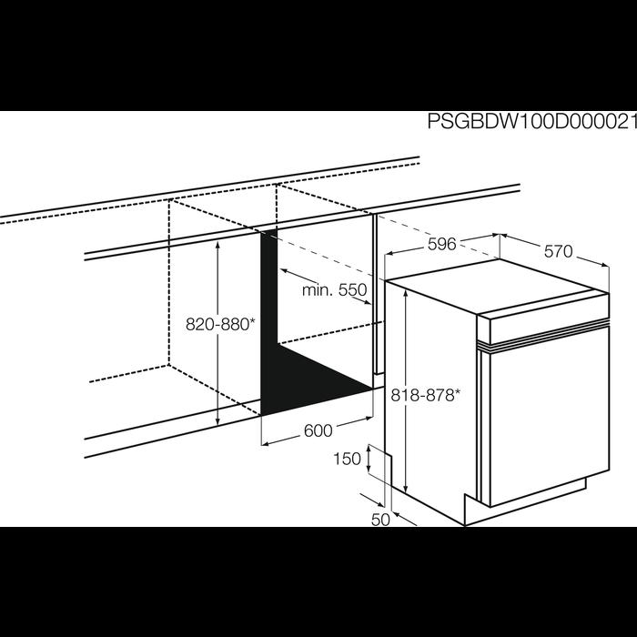 Electrolux - Lavastoviglie ad incasso - ESI5540LOW
