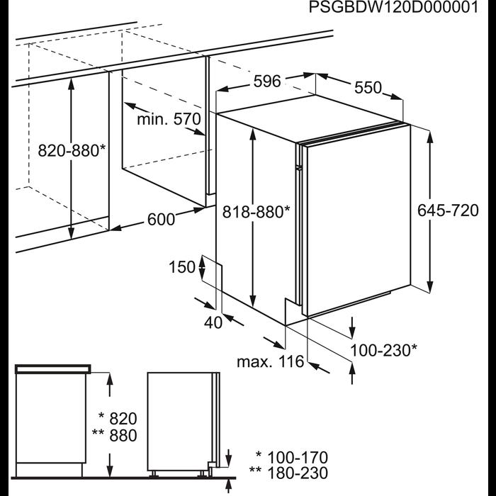 AEG - Lavastoviglie ad incasso - F55051VI0