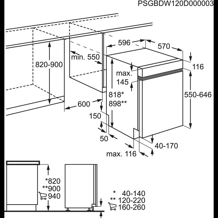 AEG - Lavastoviglie ad incasso - F99015IM0P