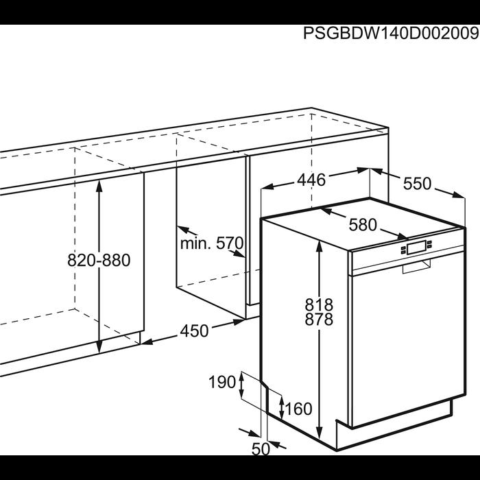 Electrolux - Smal diskmaskin 45 cm - ESF4520ROX