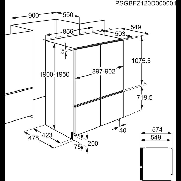 Electrolux - Frigocongelatore da incasso - FI5004NXA+