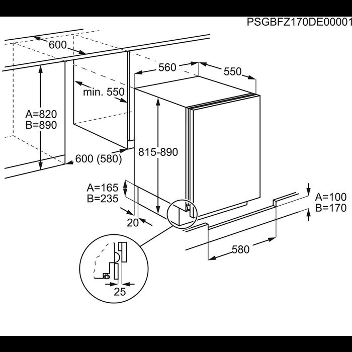 Electrolux - Frigider incorporabil - ERN1200FOW