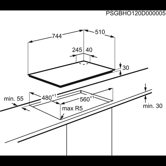 AEG - Piano cottura gas - HG755450SY