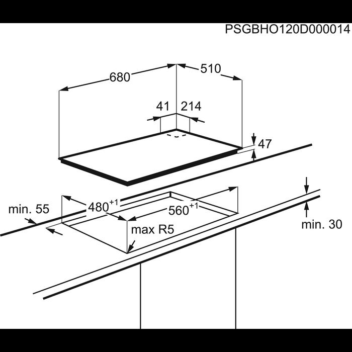Electrolux - Plynový varný panel - EGT7353YOK