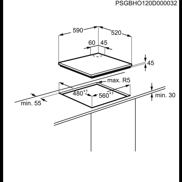 Electrolux - Plynová varná deska - EGT6345YOK