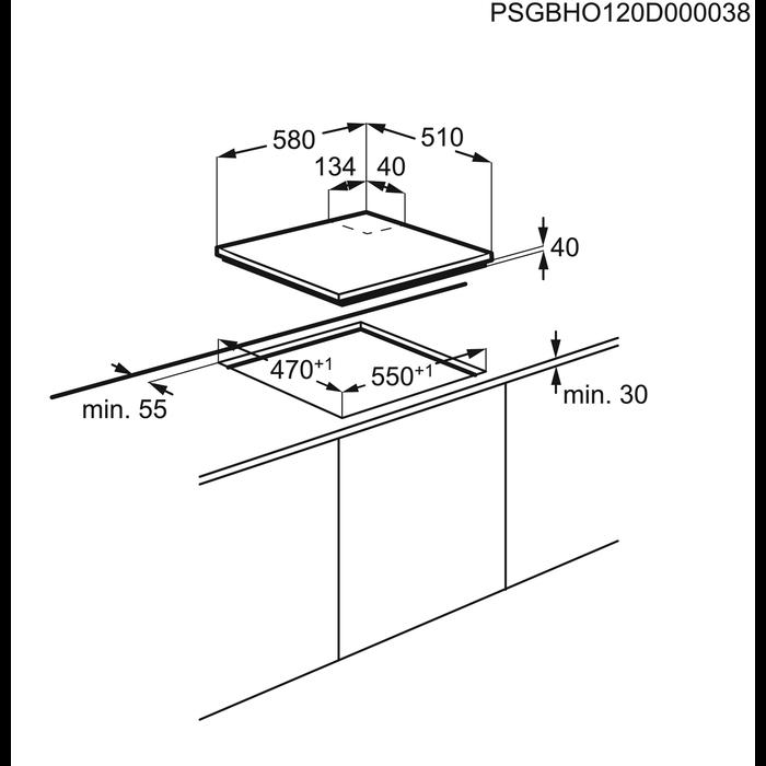 Electrolux - Газовая варочная панель - EGE6182NOK