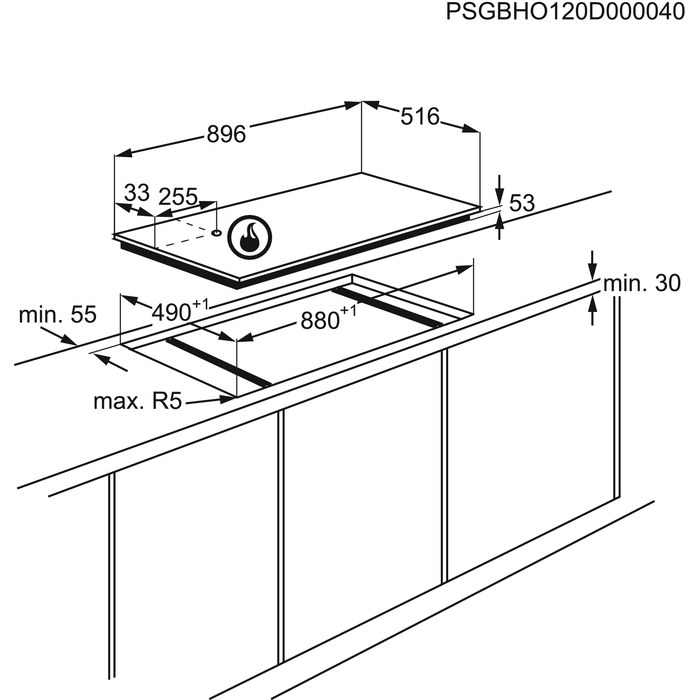AEG - Table gaz - HG995440XB