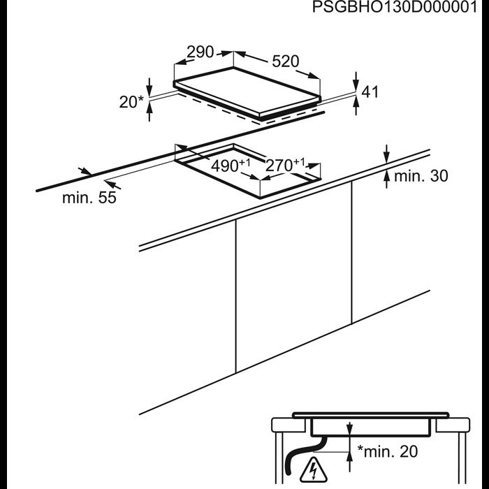 Electrolux - Elektrický varný panel - EHF3920BOK