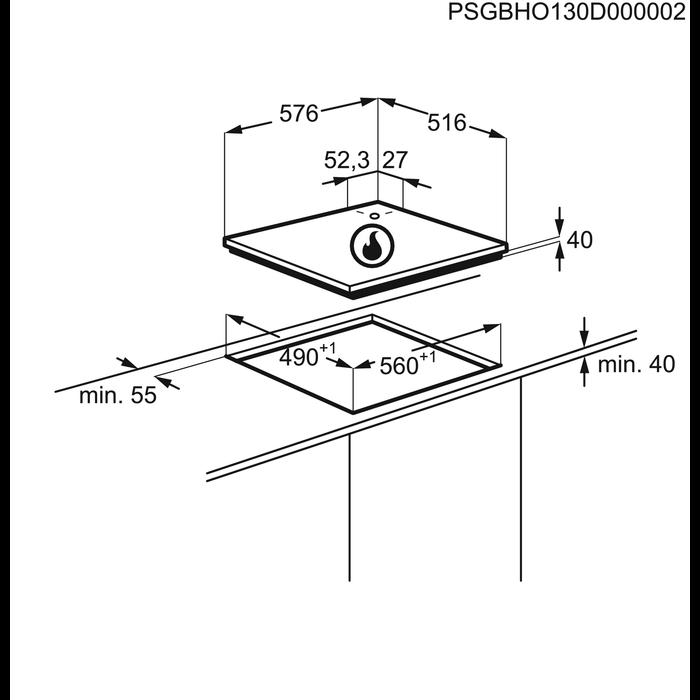 AEG - Table gaz - HG694340XB