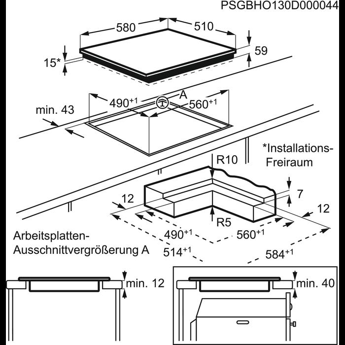 AEG - Induktionshäll - HK6542H0IB