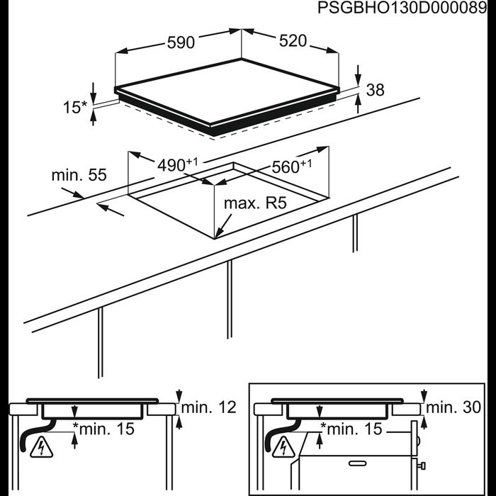 Electrolux - Электрическая варочная панель - EHF56747FK