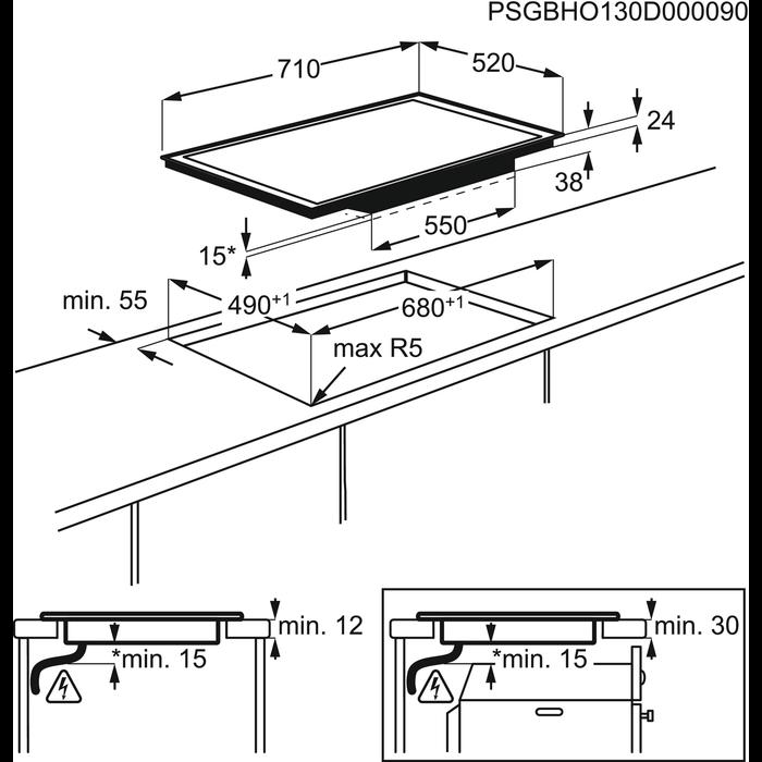 Electrolux - Elektrický varný panel - EHF76451FK