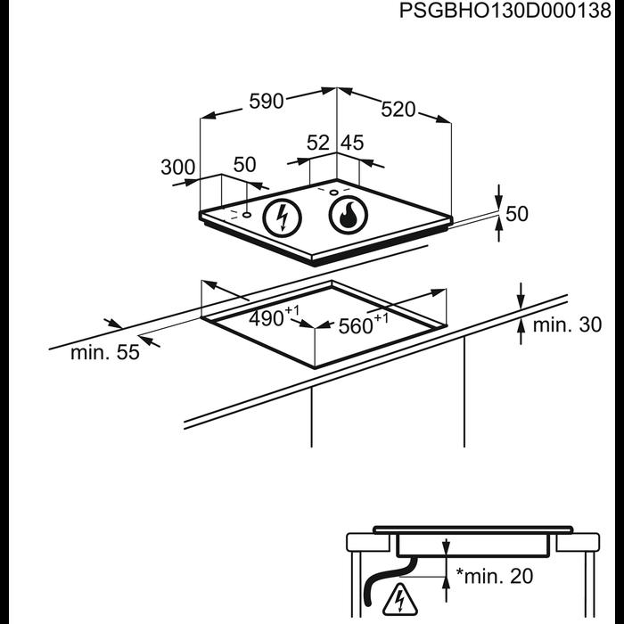 AEG - Table induction - HD634170NB