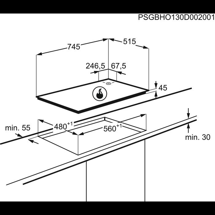 AEG - Table gaz - HG755521UM