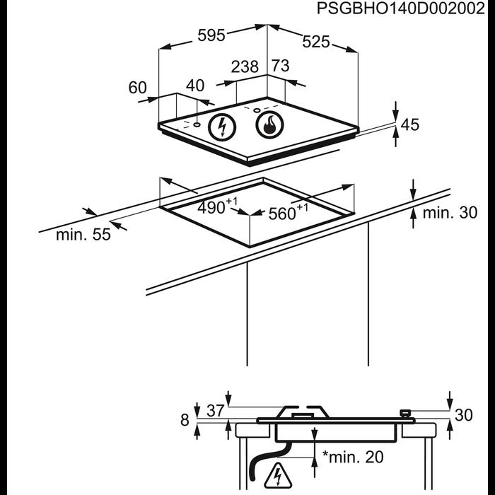 Electrolux - Gas hob - EGU6647LOX