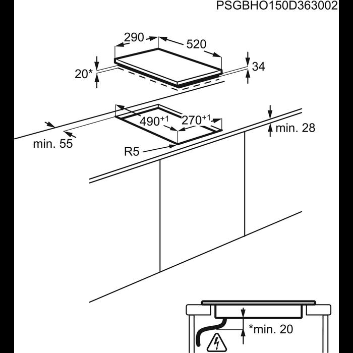 Electrolux - Elektromos főzőlap - EHF3320NOK