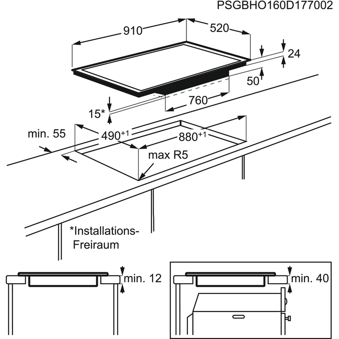 Electrolux - Induktionshäll - HOX950F