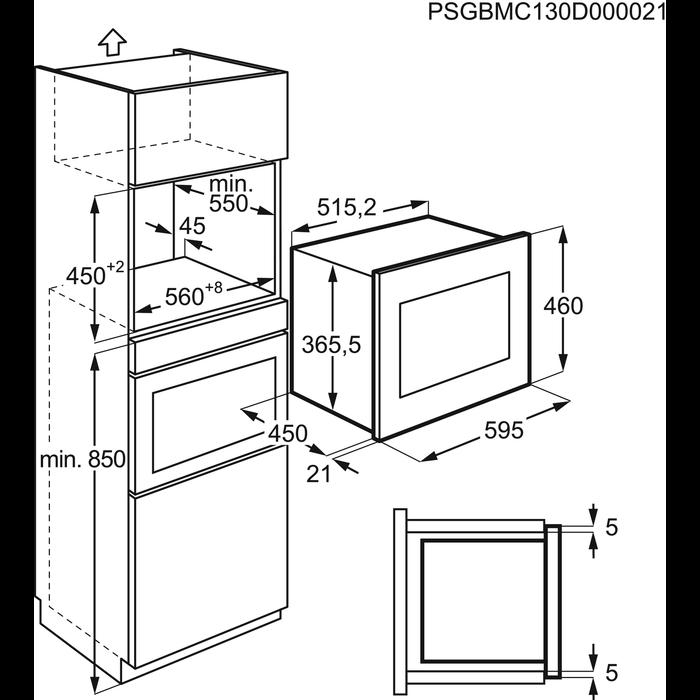 AEG - Micro-ondes encastrables - MSC2544S-M