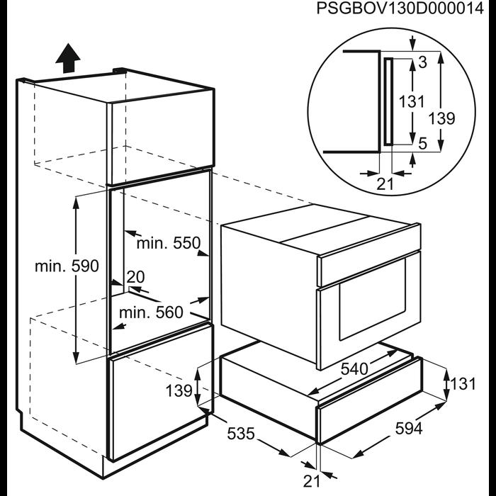 AEG - Cajón calientaplatos - KD91403M