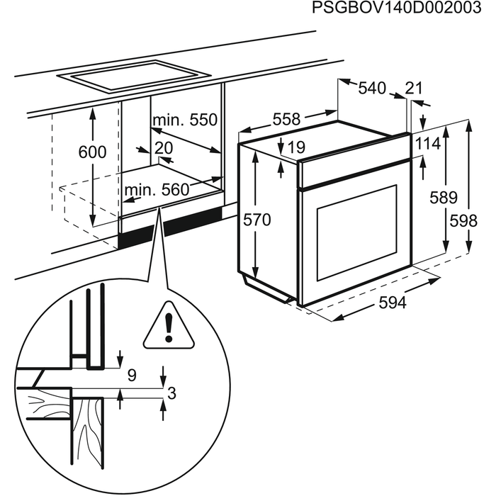 Electrolux - Духовой шкаф - EZC52430AX
