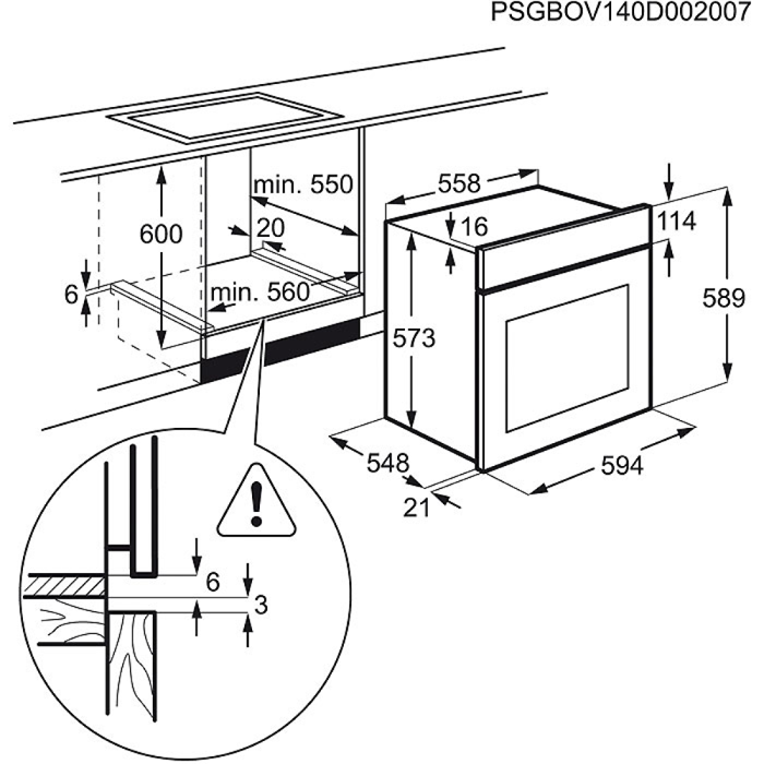 Zanussi - Electric Oven - ZOP37902BA