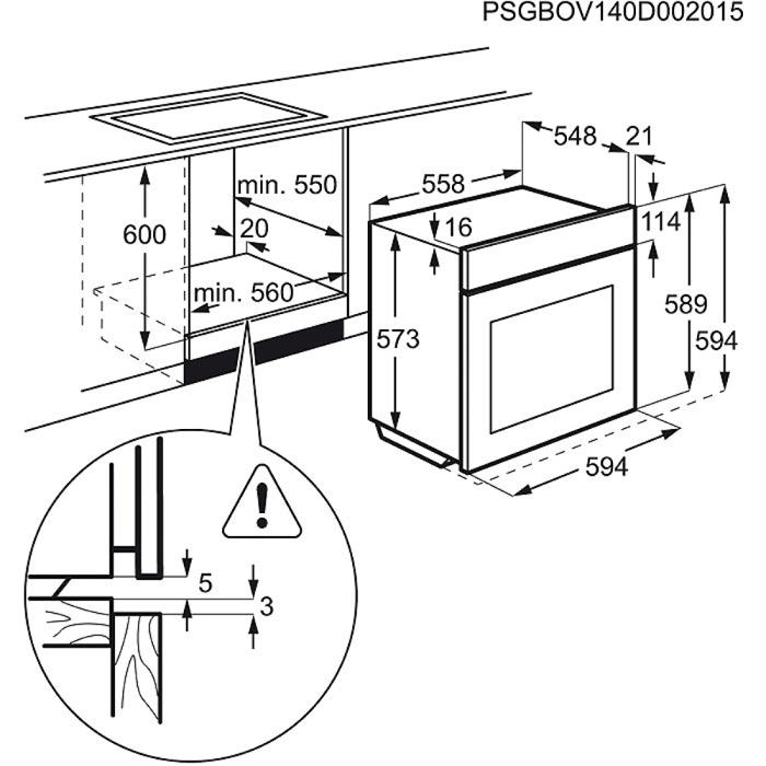 Electrolux - Beépíthető sütő - EOC3430EOX