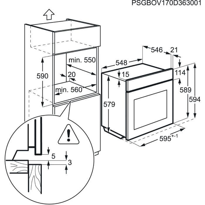 AEG - Horno - BPK551320M