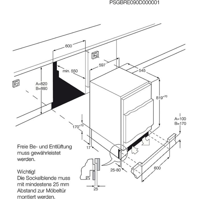 AEG - Integrated refrigerator - Built-in - SKS58240F0
