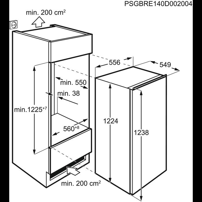 Electrolux - Inbyggt frysskåp - Inbyggnad - EUG1343AOW