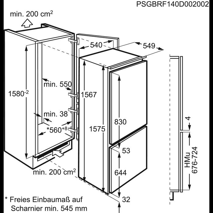Electrolux - Frigocongelatore da incasso - FI18/11E